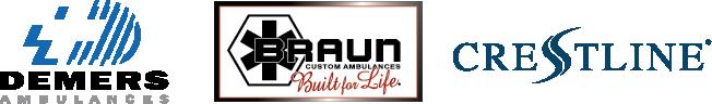 Demers Braun Crestline Logo Lineup